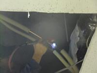 冷媒配管溶接工事