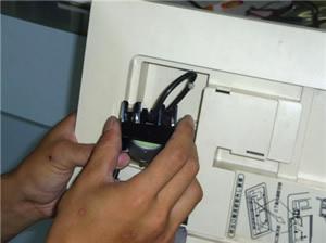 フェースパネルの電装品