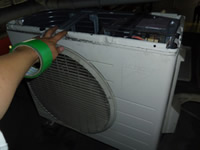 室外機洗浄工程