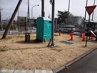 既存のトイレの搬出
